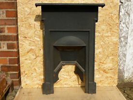 Antique Victorian Edwardian Cast Iron Fireplace