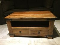 Solid wooden sheesham TV unit