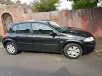 Renault Megane disel 1.5 dci 2008 7mths MOT.black. £30 tax/year