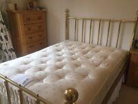 John Lewis king size pocket sprung divan bed £ 135 (excluding brass frame)