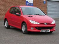 2006/55 Peugeot 206 1.1l petrol, 12 months mot, HPI Clear, Private plate included, cheap to run