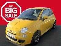 Fiat 500 S (yellow) 2015-07-29