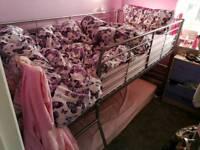 Mid sleeper single bed metal