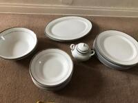 DINNER SET BY TRADEWINDS 23 piece including platters