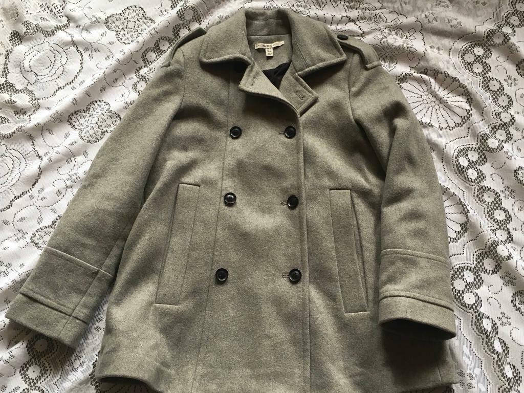 3f86929a Zara trafaluc ladies coat jacket Grey colour Size S-8 Used v,good condition  £5