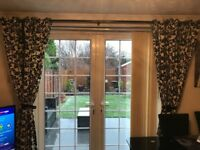 Black and Cream patterned curtains