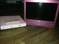 Kids pink tv and DVD player £10