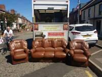3+1+1 brown sofa