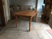 Extendable Solid Pine Dining Table