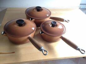Set of 3 Creuset Pans