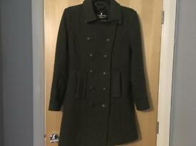 Super dry medium thick wool military coat rrp