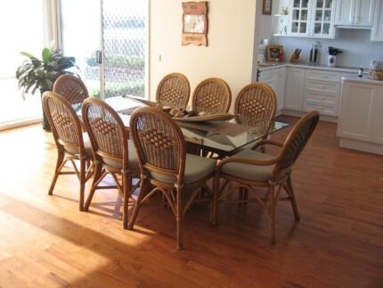 Cane Dining Setting -8 seater Newcastle 2300 Newcastle Area Preview
