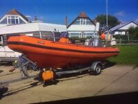 Fantastic Avon 5.5m Dive Rib, 90HP Honda four stroke Indespension Trailer Lots of extras