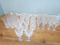 30pcs crystal glasses