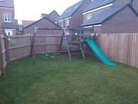 Slide swing climbing frame playground