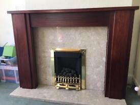 Solid hardwood fire surround mantle piece. Excellent condition. ONLY THE WOODEN BIT!