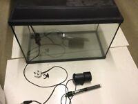 Aquarium with accessories