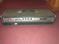 Vintage 70s Carlsbro Stingray bass amp head