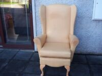 wing back and arm chair