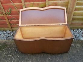 Large vintage wooden ottoman/blanket box