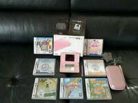 Boxed Nintendo ds lite in excellent condition with stylus pen charger carry case and 7 Games
