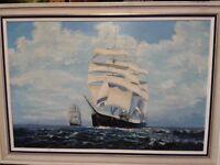 Original Large Oil Painting of Famous Sailing Ship the 'PAMIR'
