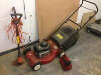 Briggs and Stratton engined mower petrol
