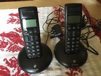 BT twin home telephone