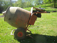Belle mini-mix petrol cement mixer