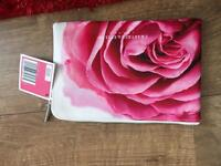 Crabtree and Evelyn floral cosmetic bag