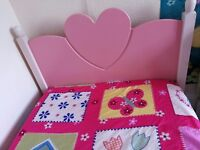 ADORABLE CHILDRENS PINK HEART TRUNDLE BED + MATTRESS