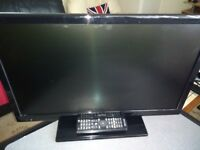"24"" TV/dvd for sale with remote"