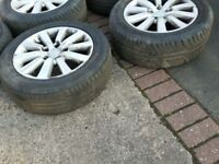 """CIVIC EP2 16"""" SET OF 4 ALLOY WHEELS WITH TYRES. FITS COROLLA/ VERSO/ ACCORD"""