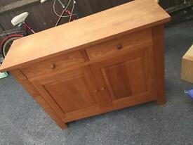 New heights oak sideboard