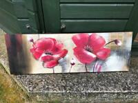 Red poppy canvas for sale