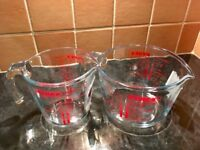 NEW Small and Large PYREX glass measuring jugs