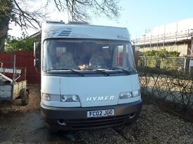 HYMER A Class B584 Classic 2002 FIAT 2.8 LHD Only 51000 miles Great Condition, Many Extras