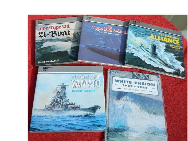 Anatomy Of The Ship 4 Volumes Plus Navy Goes To War
