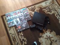 Ps3 120 GB with 2 controllers and 10games