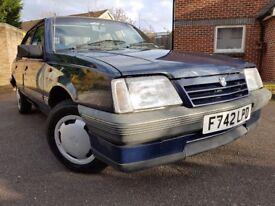 1988 Vauxhall Cavalier L 1.6 MK2 F reg MOT TIL 2018!