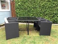 Rattan cube garden furniture