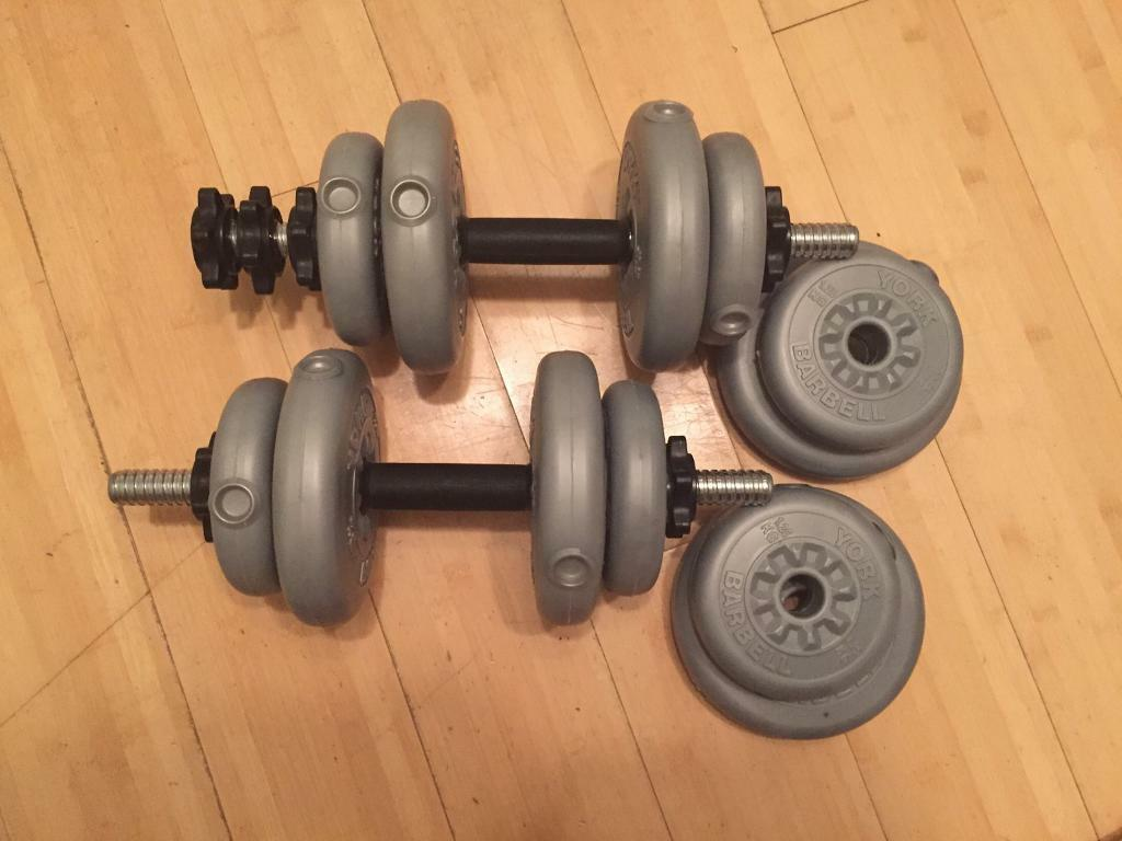 6c9f5b8dcb8 York barbell and dumbbells weights set
