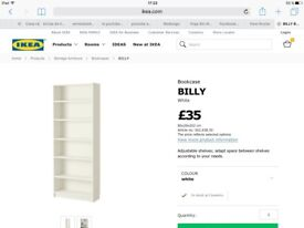 White large bookcase. 6 moths old 20 pounds