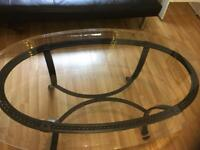 Coffee table with glass top £10