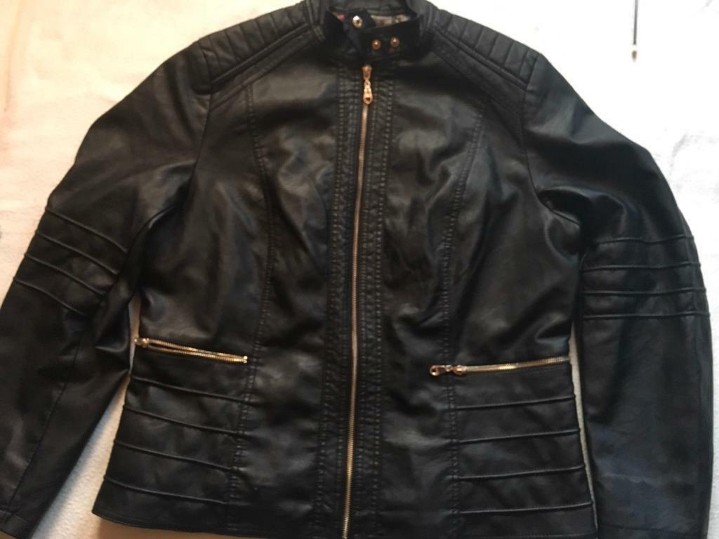 Resplendent men's jacket faux soft leather black size XL used £10