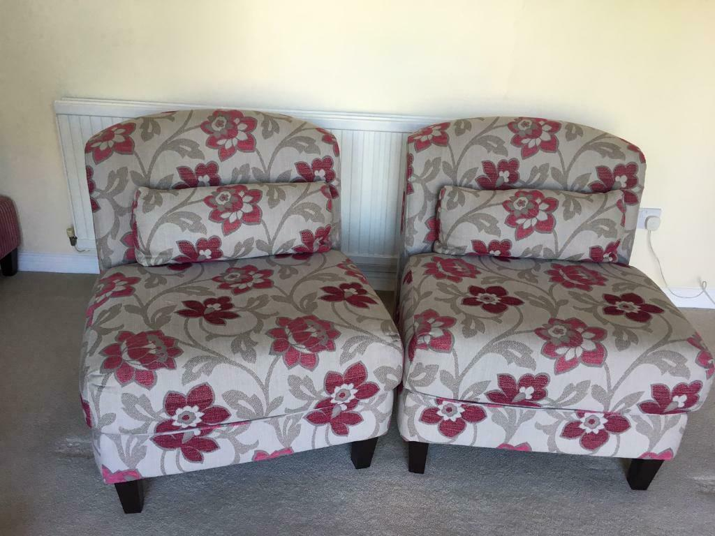 Pair of patterned armchairs | in Warwick, Warwickshire ...
