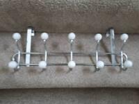 Coat rack for back of door