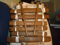 african hand made musical instrument , plays with two rubber front sticks,only £25.stanmore , middx.