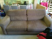 Next 3 seater Sofa and matching armchair in good condition - free!
