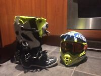 Tech 7 boots and helmet